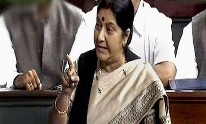 hyderabad attack is massive failure sushma swaraj