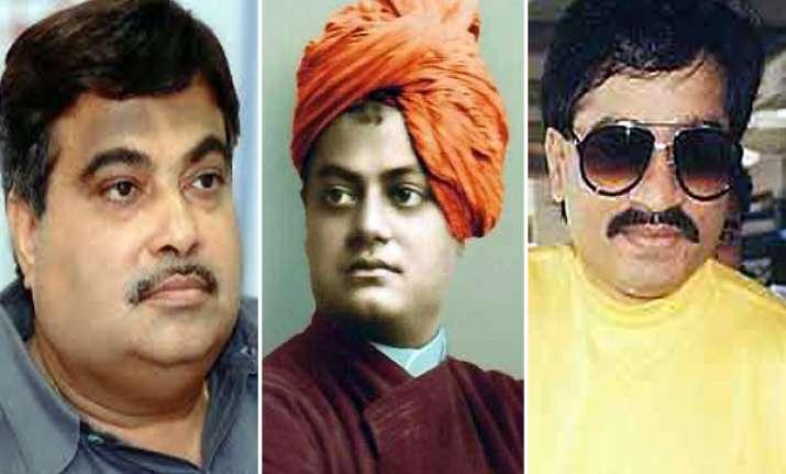 gadkari denies equating vivekananda dawood i was only