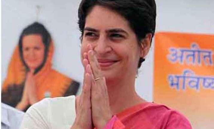 in pics priyanka gandhi battles for rahul in amethi