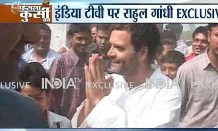 in pics rahul gandhi in amethi on polling day