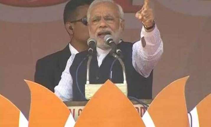 in pics narendra modi s meerut rally
