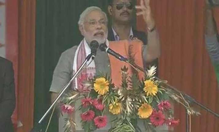 in pics narendra modi s guwahati rally