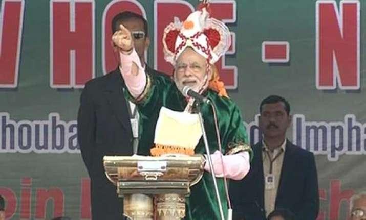 in pics narendra modi s imphal manipur rally
