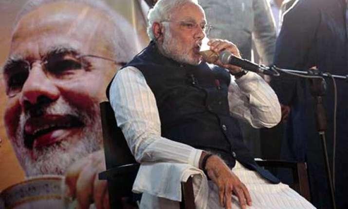 in pics narendra modi s tea politics chai charcha