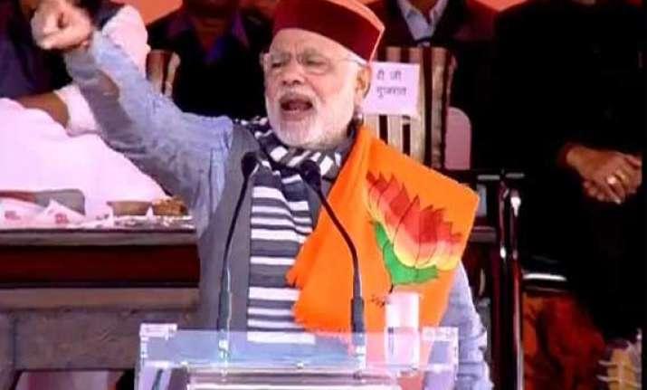 in pics narendra modi s sujanpur himachal pradesh rally
