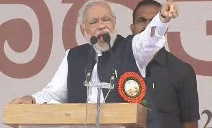 in pics narendra modi s davangere karnataka rally