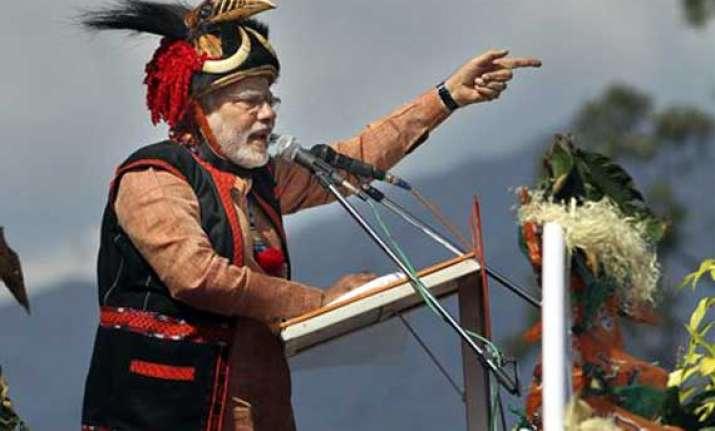 in pics narendra modi s pasighat arunachal pradesh rally