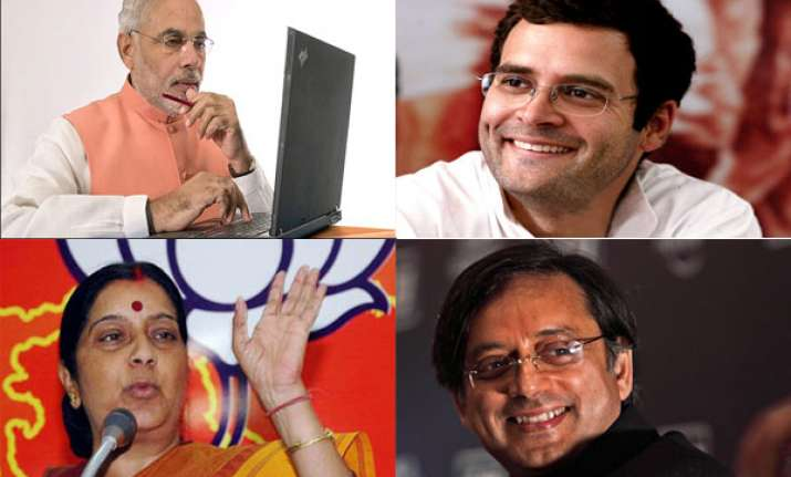 india s 10 most active politicians on facebook twitter