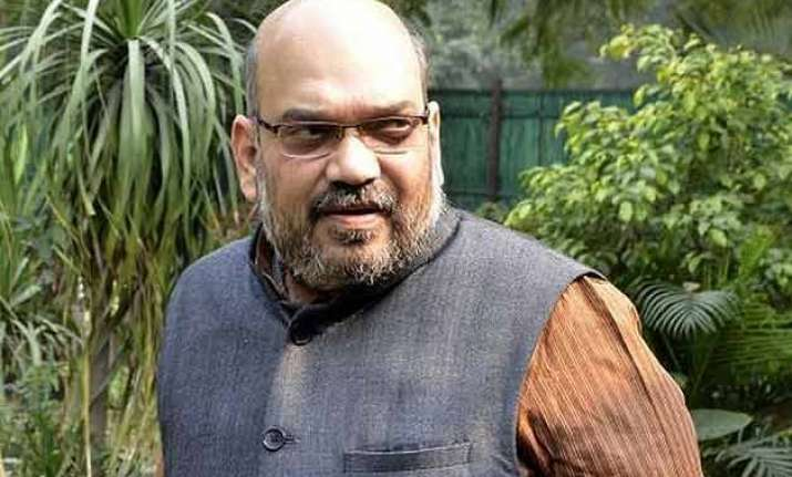 amit shah discusses parliament strategy with bjp ministers