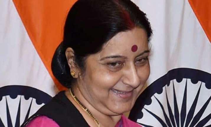 sushma swaraj leaves for sri lanka