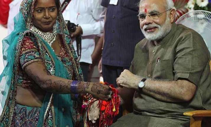 bjp women s wing from gujarat sends one lakh rakhis to modi