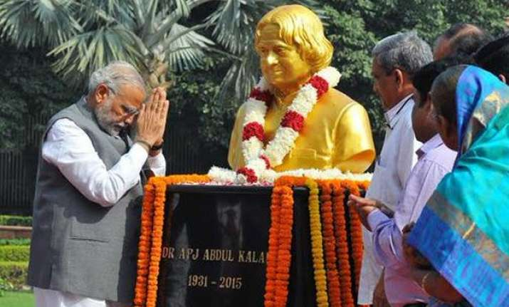 pm modi salutes former president kalam on his 84th birth
