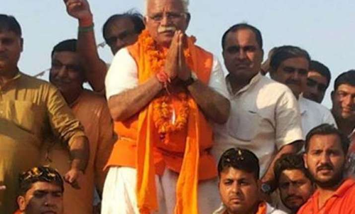 at a glance manohar lal khattar chief minister of haryana