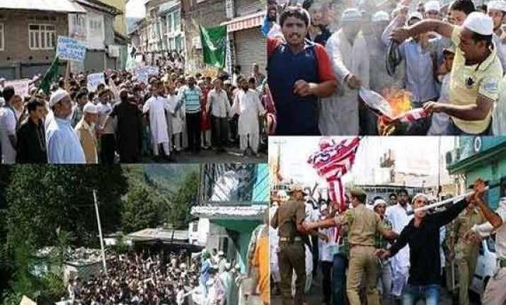 anti pak protests rock jammu pol parties condemn shelling