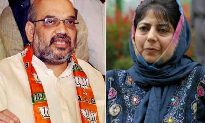 j k govt formation mehbooba mufti likely to meet amit shah