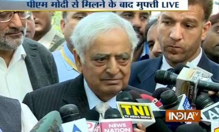 mufti mohammed sayeed to take oath as j k cm on march 1 pm