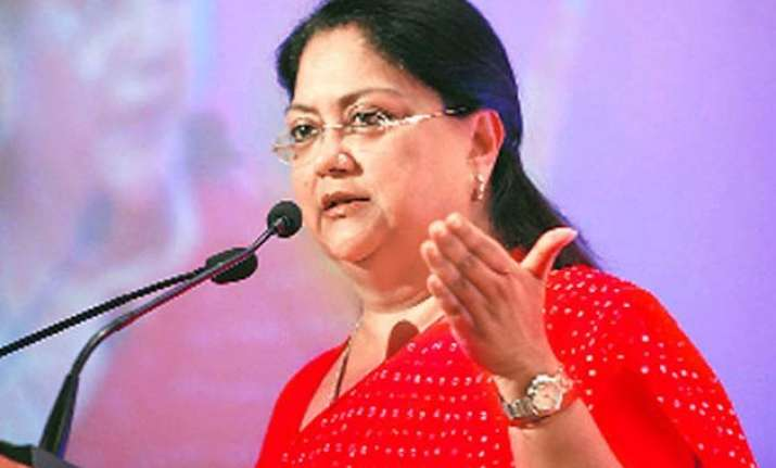 congress seeks vasundhara raje s ouster in rs 45 000 cr