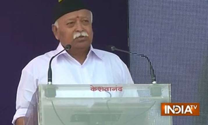 atmosphere of hope and enthusiasm in india rss chief
