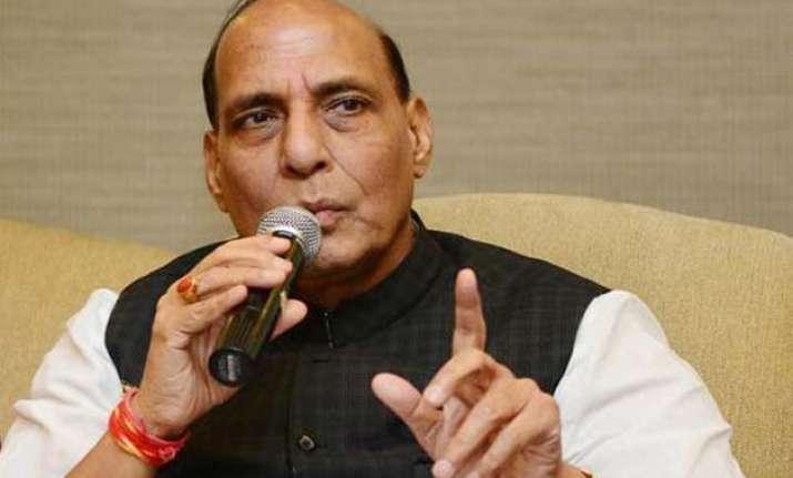 rajnath says border visit not political calls mamata a