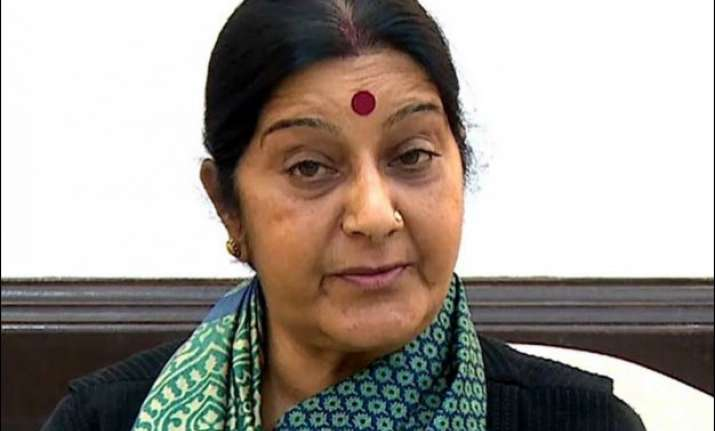 sushma swaraj s statement in rs without notice congress