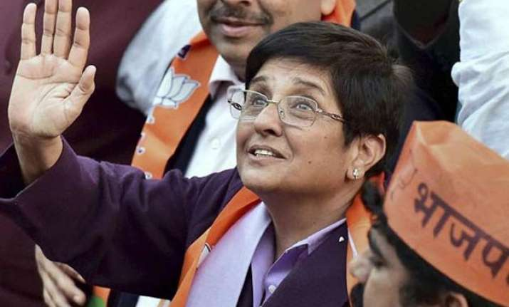 throat infection hits kiran bedi on campaign trail