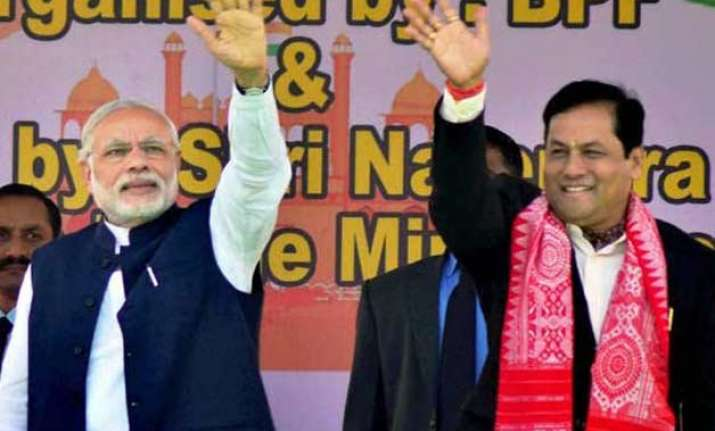 bjp declares sarbananda sonowal as cm candidate in assam