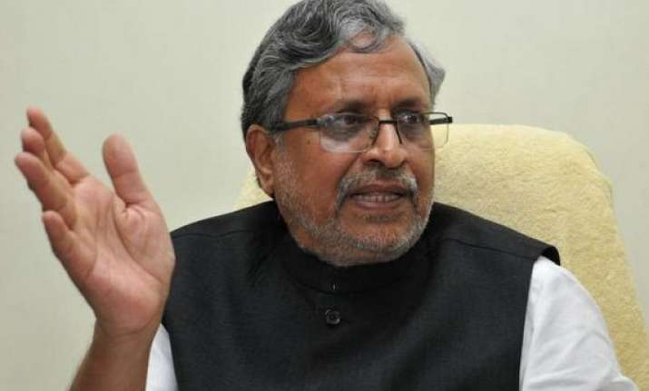 sushil modi slams jd u govt for spate in crimes against