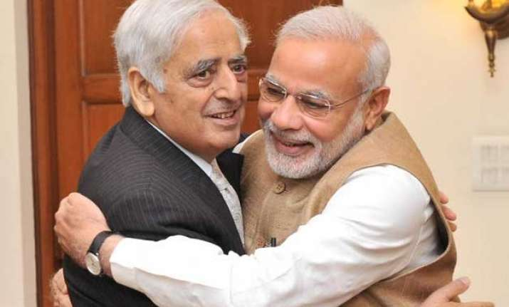 pm modi to attend swearing in of pdp bjp govt led by mufti