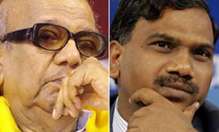 karuna stands by raja resignation to allow par proceedings