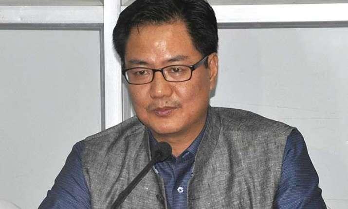 kiren rijiju condemns killing of 8 security personnel in