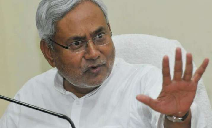 nitish kumar to lead jd u fast against nda s land