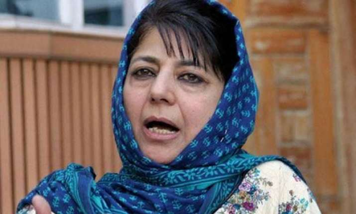 mehbooba says not afraid of criticism for going ahead with