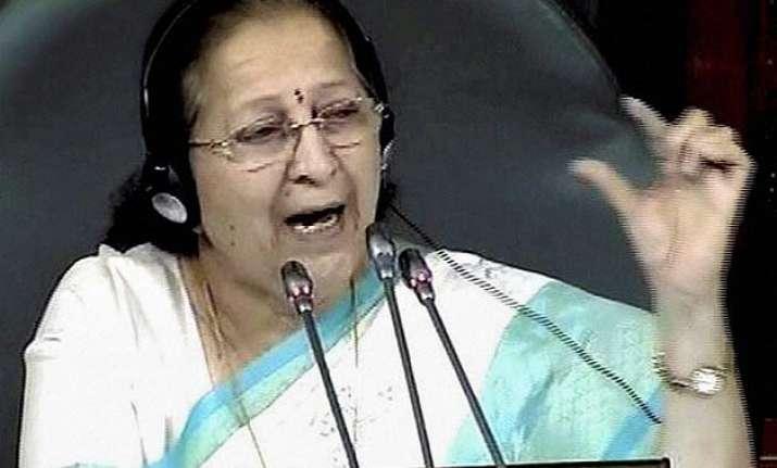 aghast sumitra mahajan says frequent disruptions damaging