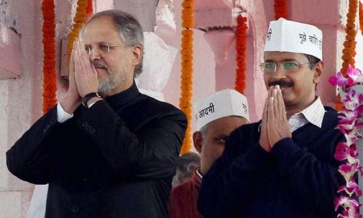 najeeb jung arvind kejriwal responsible for delhi mess