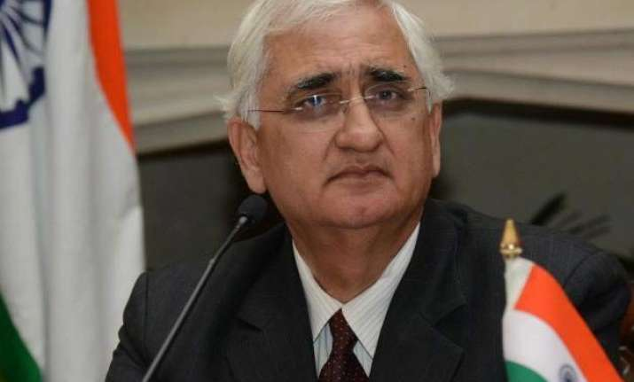 modi should admit if he is not strong khurshid