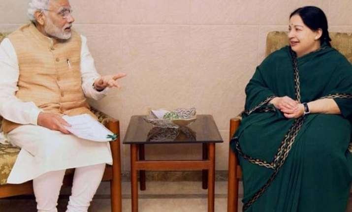 jayalalithaa raises inter state issues gst with pm modi