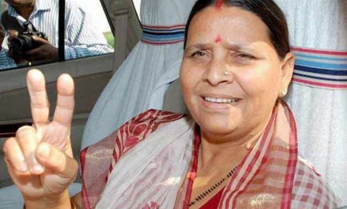 former bihar cm rabri devi not to contest assembly polls
