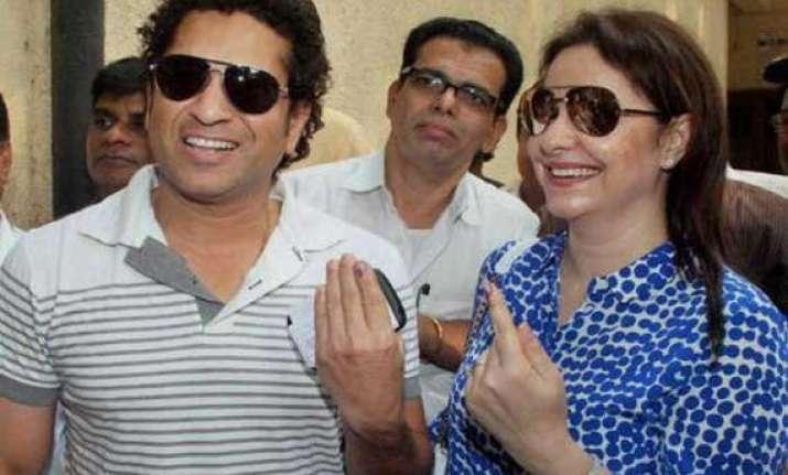 in pics assembly polls in maharahstra haryana celebrities
