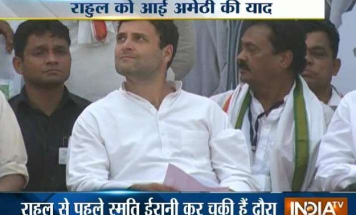 rahul gandhi s three day visit to home turf amethi begins