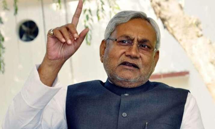 nitish blames bjp for release of jailed separatist leader