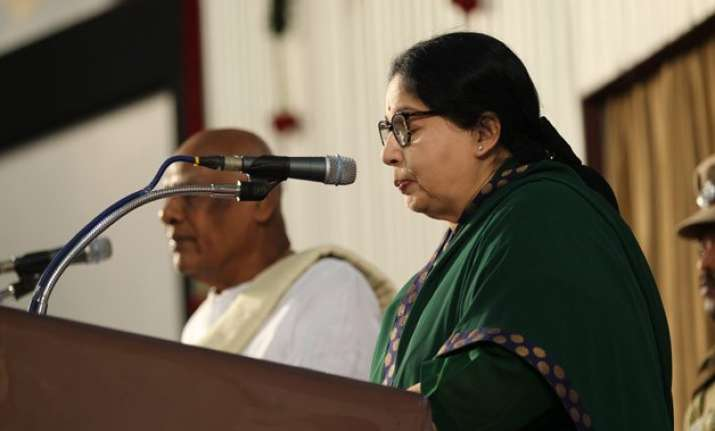 truncated national anthem played at jayalalithaa s swearing