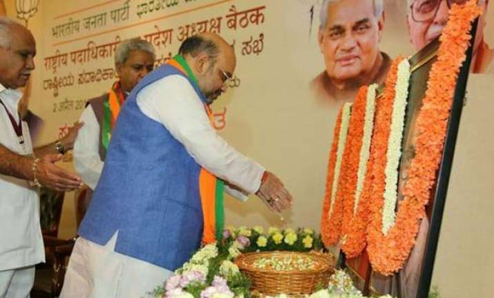 land bill to be top priority at bjp s first national