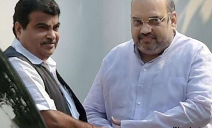 amit shah nitin gadkari discuss further strategy for govt