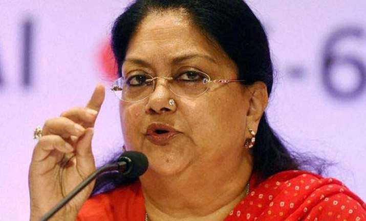 rajasthan needs to have pro active policing vasundhara raje