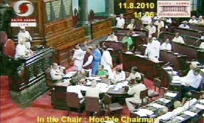 shiv sena members disrupt question hour in rs over belgaum