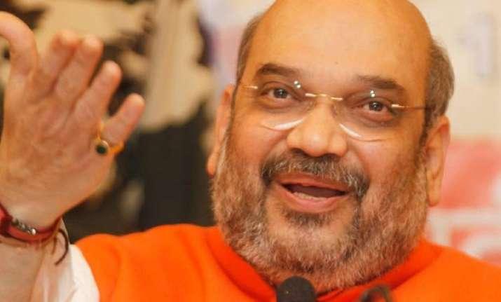 bjp president amit shah praises rail budget