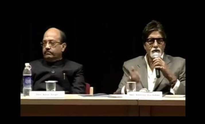 amar singh shares stage with amitabh bachchan
