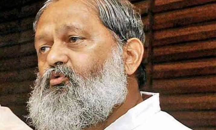haryana s health minister anil vij upset over agitation by