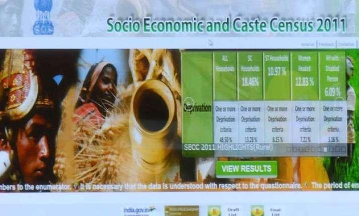 government releases socio economic and caste census