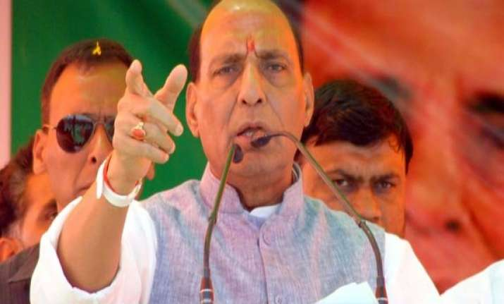 j k polls rajnath singh to address bjp rallies in jammu